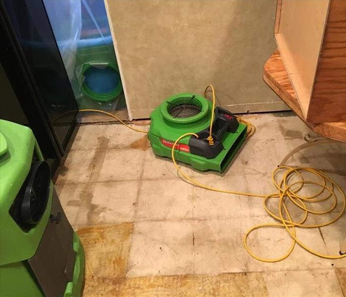 Standing Water in Kitchen After