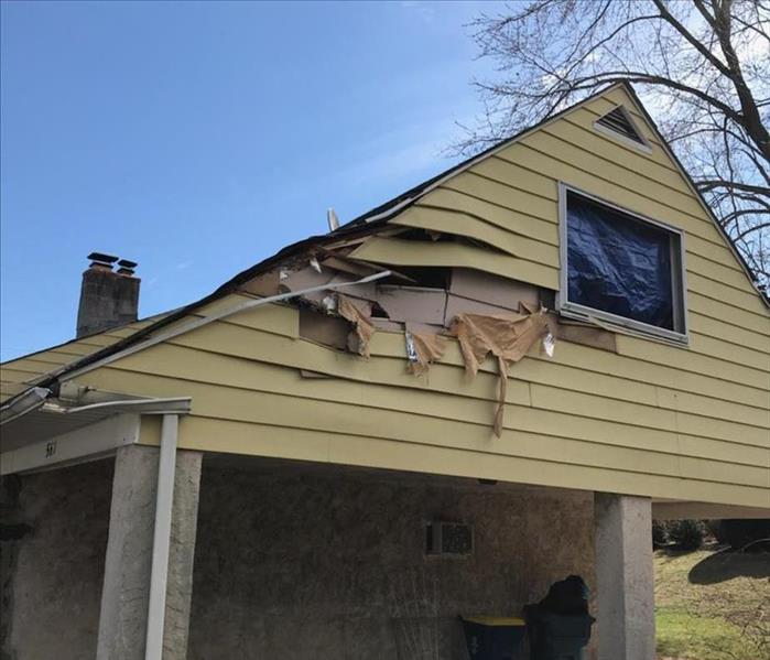 Roof Takes on Damage from Storm